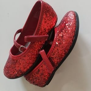 Other - Red Glittery Ballerina Shoes